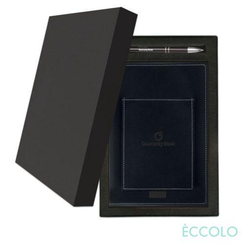 Eccolo® Austin Journal/Clicker Pen Gift Set - (M) Black