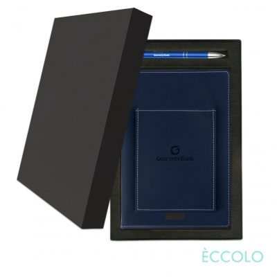 Eccolo® Austin Journal/Clicker Pen Gift Set - (M) Navy Blue