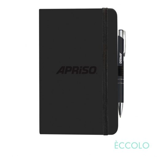 Eccolo® Calypso Journal/Clicker Pen - (M) Black