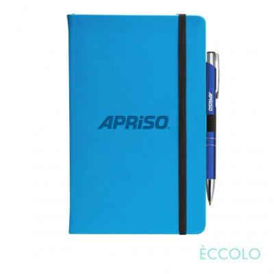 Eccolo® Calypso Journal/Clicker Pen - (M) Teal Blue