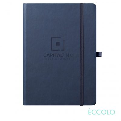 "Eccolo® Cool Journal - (L) 7""x9¾"" Navy Blue"