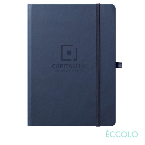 "Eccolo® Cool Journal - (L) 7""x9¾"" Navy Blue"