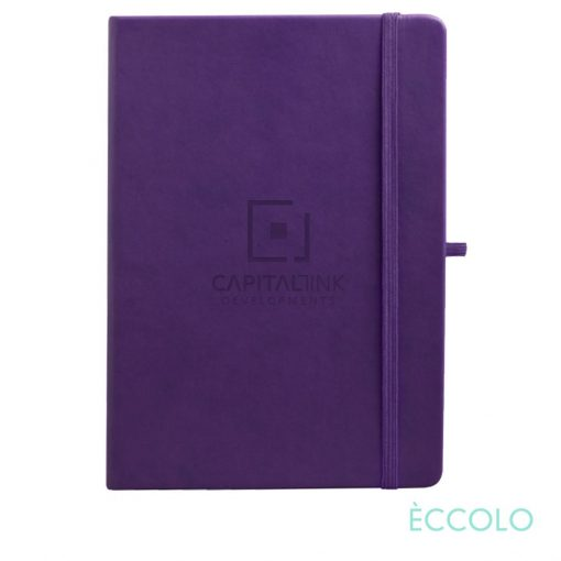 """Eccolo® Cool Journal - (L) 7""""x9¾"""" Purple"""