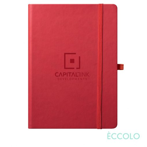 """Eccolo® Cool Journal - (L) 7""""x9¾"""" Red"""