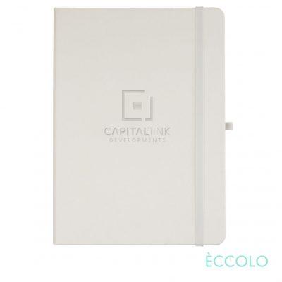 """Eccolo® Cool Journal - (L) 7""""x9¾"""" White"""
