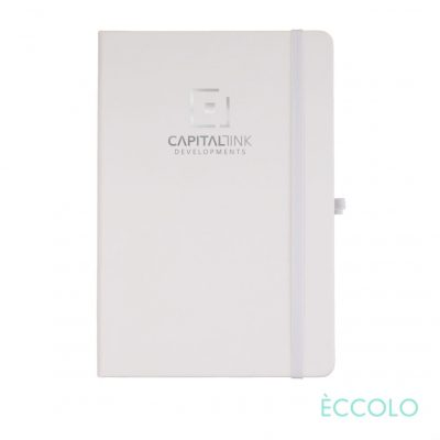 "Eccolo® Cool Journal - (M) 5¾""x8¼"" White"