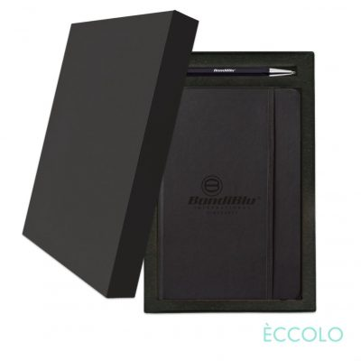 Eccolo® Cool Journal/Atlas Pen/Stylus Pen Gift Set - (M) Black