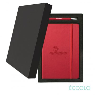 Eccolo® Cool Journal/Atlas Pen/Stylus Pen Gift Set - (M) Red