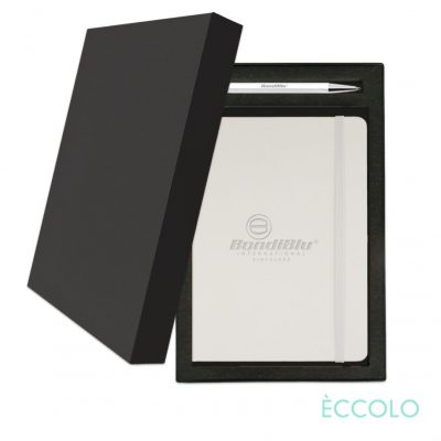Eccolo® Cool Journal/Atlas Pen/Stylus Pen Gift Set - (M) White