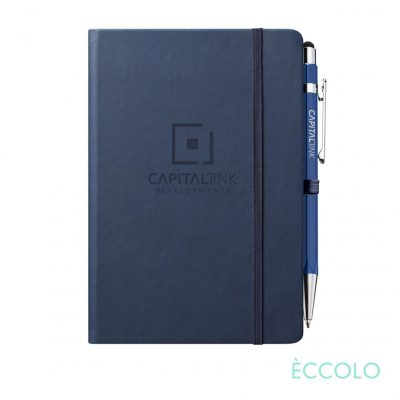 Eccolo® Cool Journal/Atlas Pen/Stylus Pen - (M) Navy Blue