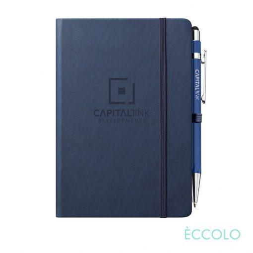 Eccolo® Cool Journal/Atlas Pen/Stylus Pen - (M) Navy Blue