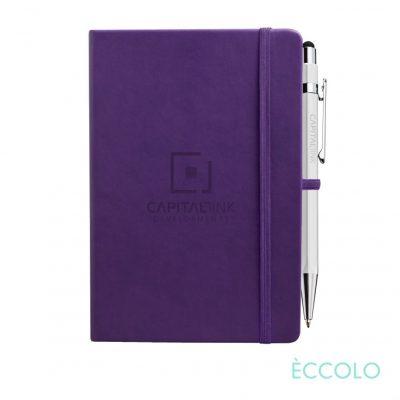 Eccolo® Cool Journal/Atlas Pen/Stylus Pen - (M) Purple