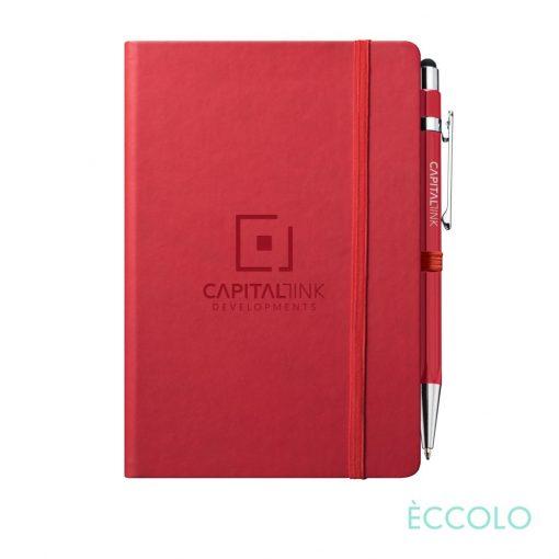 Eccolo® Cool Journal/Atlas Pen/Stylus Pen - (M) Red