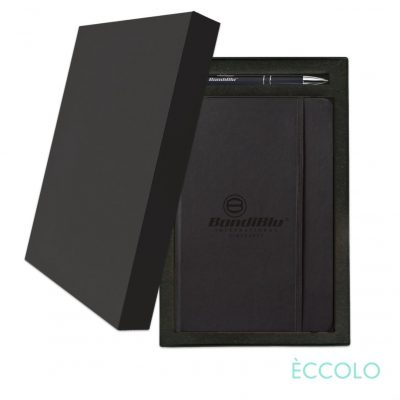 Eccolo® Cool Journal/Clicker Pen Gift Set - (M) Black