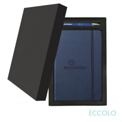 Eccolo® Cool Journal/Clicker Pen Gift Set - (M) Navy Blue