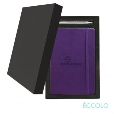 Eccolo® Cool Journal/Clicker Pen Gift Set - (M) Purple