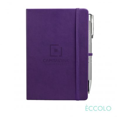 Eccolo® Cool Journal/Clicker Pen - (M) Purple