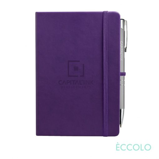 Eccolo® Cool Journal/Clicker Pen - (M) Purple
