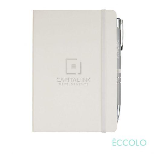 Eccolo® Cool Journal/Clicker Pen - (M) White