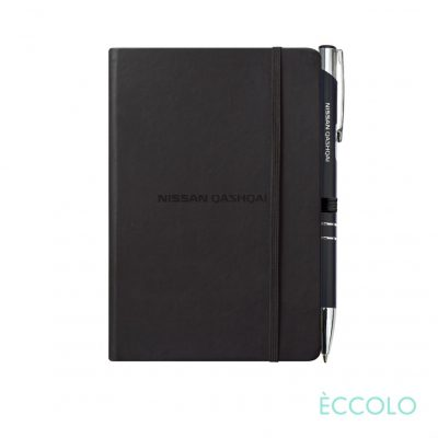 Eccolo® Cool Journal/Clicker Pen - (S) Black