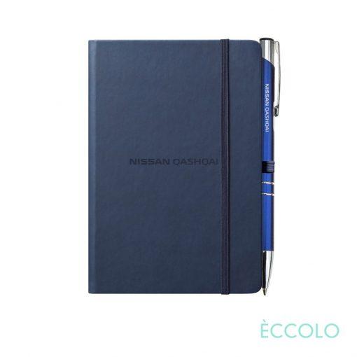 Eccolo® Cool Journal/Clicker Pen - (S) Navy Blue
