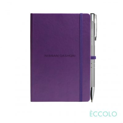 Eccolo® Cool Journal/Clicker Pen - (S) Purple