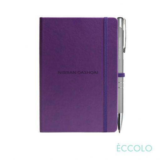 Eccolo® Cool Journal/Clicker Pen - (S) Purple