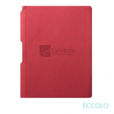 "Eccolo® Groove Journal - (M) 5¾""x8¼"" Red"