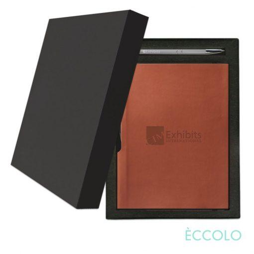 Eccolo® Groove Journal/Clicker Pen Gift Set - (M) Terracotta