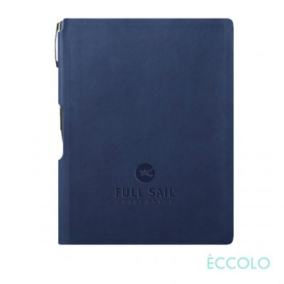 Eccolo® Groove Journal/Clicker Pen - (M) Navy Blue