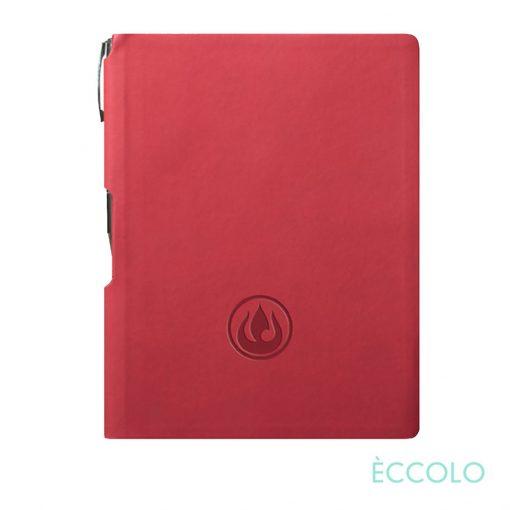 Eccolo® Groove Journal/Clicker Pen - (M) Red