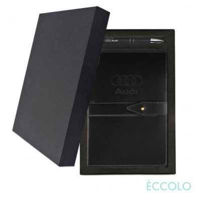 Eccolo® Legend Journal/Clicker Pen Gift Set - (M) Black