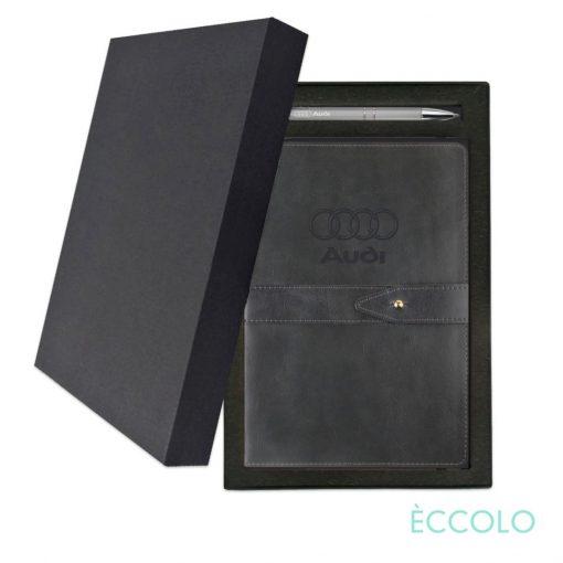 Eccolo® Legend Journal/Clicker Pen Gift Set - (M) Gray