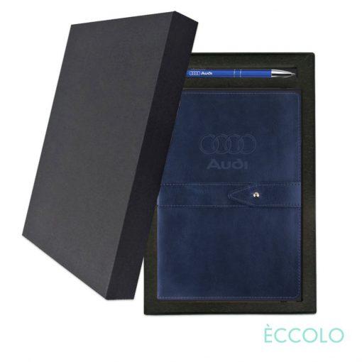 Eccolo® Legend Journal/Clicker Pen Gift Set - (M) Navy Blue