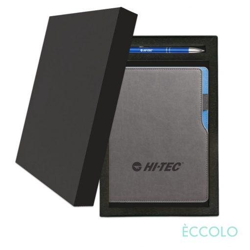 Eccolo® Mambo Journal/Clicker Pen Gift Set - (M) Blue