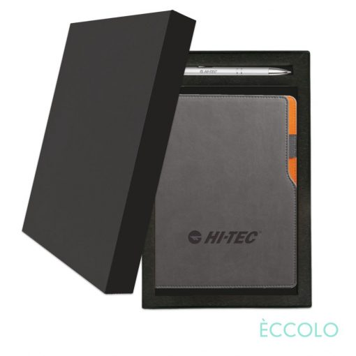 Eccolo® Mambo Journal/Clicker Pen Gift Set - (M) Orange
