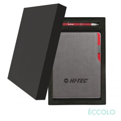 Eccolo® Mambo Journal/Clicker Pen Gift Set - (M) Red