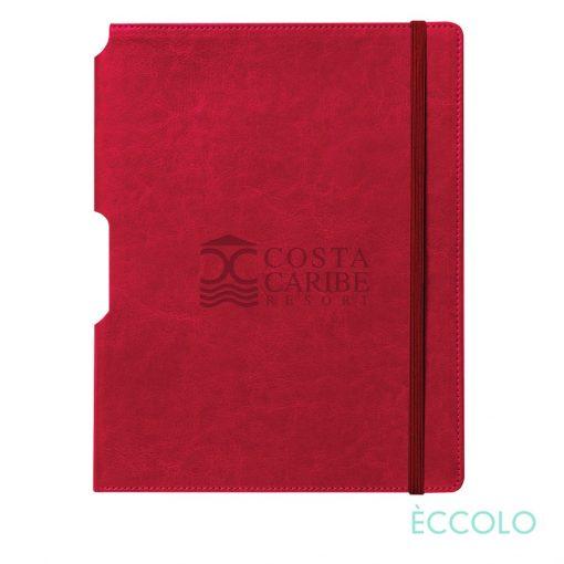 """Eccolo® Rhythm Journal - (L) 7""""x9¾"""" Red"""