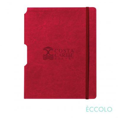 """Eccolo® Rhythm Journal - (M) 5¾""""x8¼"""" Red"""
