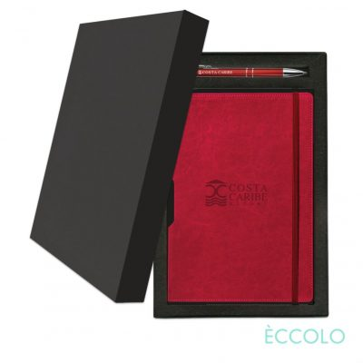 Eccolo® Rhythm Journal/Clicker Pen Gift Set - (M) Red
