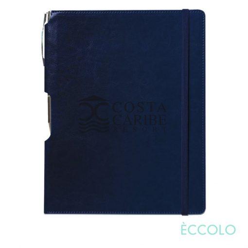 Eccolo® Rhythm Journal/Clicker Pen - (L) Navy Blue