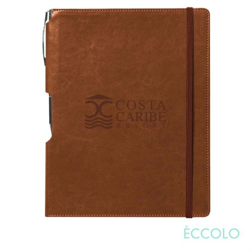 Eccolo® Rhythm Journal/Clicker Pen - (L) Tan