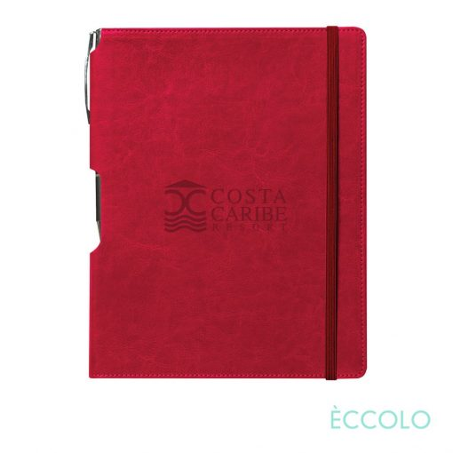 Eccolo® Rhythm Journal/Clicker Pen - (M Red