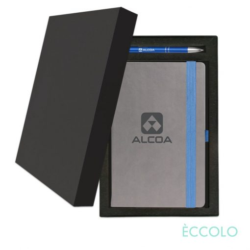 Eccolo® Salsa Journal/Clicker Pen Gift Set - (M) Blue