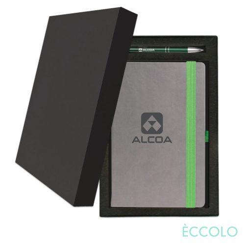 Eccolo® Salsa Journal/Clicker Pen Gift Set - (M) Green