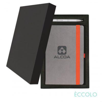 Eccolo® Salsa Journal/Clicker Pen Gift Set - (M) Orange