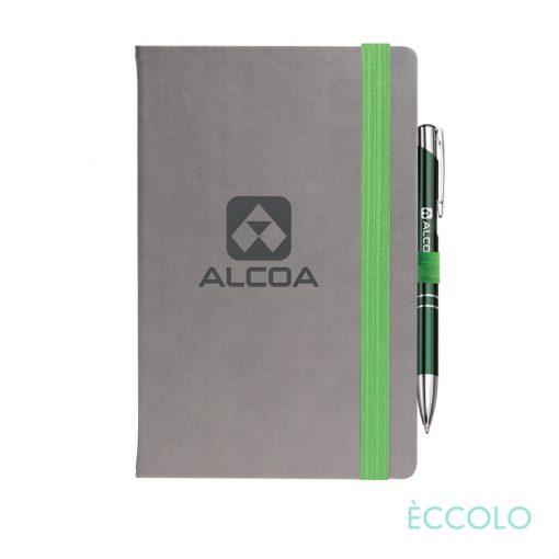 Eccolo® Salsa Journal/Clicker Pen - (M) Green