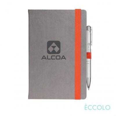 Eccolo® Salsa Journal/Clicker Pen - (M) Orange