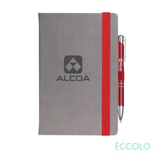 Eccolo® Salsa Journal/Clicker Pen - (M) Red