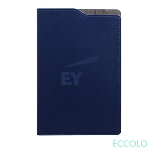 "Eccolo® Soca Journal - (M) 5¾""x8-5/8"" Navy Blue"